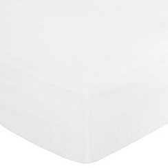 Debenhams - White 400 thread count Egyptian cotton fitted sheet