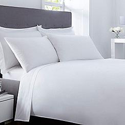 Debenhams - White 400 thread count Egyptian cotton duvet cover