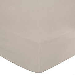 Debenhams - Silver Egyptian cotton 400 thread count bed linen