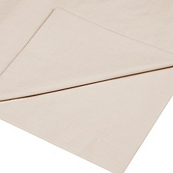 Debenhams - Silver 400 thread count Egyptian cotton flat sheet