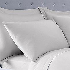 Debenhams - Silver 400 thread count Egyptian cotton Oxford pillow case pair
