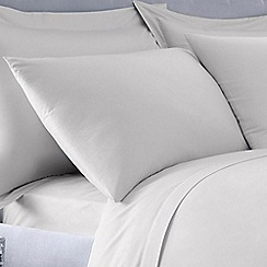 Debenhams - Silver 400 thread count Egyptian cotton pillow case pair