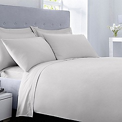 Debenhams - Silver 400 thread count Egyptian cotton duvet cover