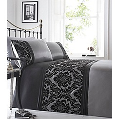 Home Collection - Grey flocked 'Chester' bedding set
