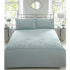 Home Collection - Aqua 'Embroidered' bedding set
