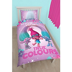 Debenhams - Multicoloured 'Trolls' bedding set