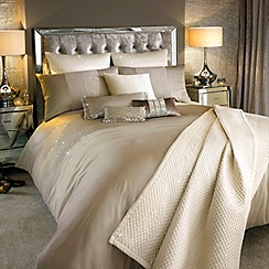 Kylie Minogue at home - Praline 200 thread count 'Alba' sequin duvet cover