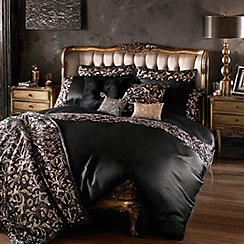 Kylie Minogue at home - Black 200 thread count 'Lazarro' sequin duvet cover