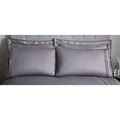 J by Jasper Conran - Dark grey 'Langham' 240 thread count Oxford pillow case pair