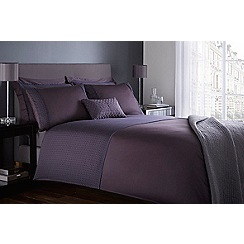 J by Jasper Conran - Purple 'Kensington' 215 thread count duvet cover
