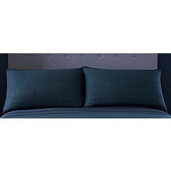 J by Jasper Conran - Navy blue 215 thread count striped 'Marlborough' pillow case pair