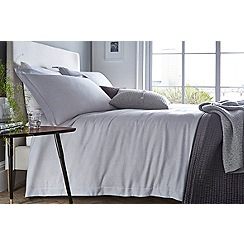 J by Jasper Conran - Grey 200 thread count 'Greenwich' duvet cover