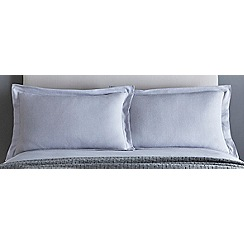 J by Jasper Conran - Grey 200 thread count 'Greenwich' pillow case pair
