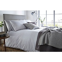 J by Jasper Conran - Grey 200 thread count 'Henley' duvet cover