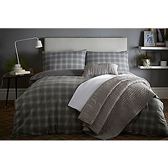 J by Jasper Conran - Grey 'Dulwich' duvet cover