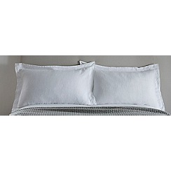 J by Jasper Conran - White linen 'Alderley' Oxford pillow case pair