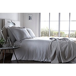 J by Jasper Conran - Light grey linen 'Alderley' duvet cover