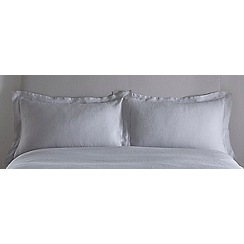 J by Jasper Conran - Light grey linen 'Alderley' Oxford pillow case pair