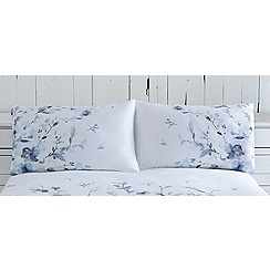 RJR.John Rocha - White 220 thread count 'Watercolour Fleur' pillow case pair