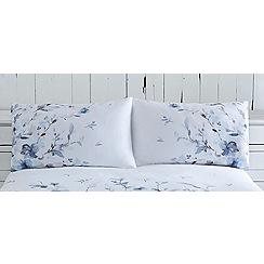 RJR.John Rocha - White 'Watercolour Fleur' floral print pillow case pair