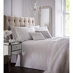 Star by Julien Macdonald - White 'Candice' 180 thread count duvet cover