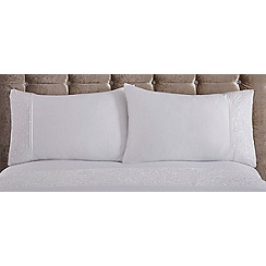 Star by Julien Macdonald - White 'Candice' 180 thread count standard pillow case pair