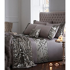 Star by Julien Macdonald - Silver sequinned 'Selena' 180 thread count duvet cover