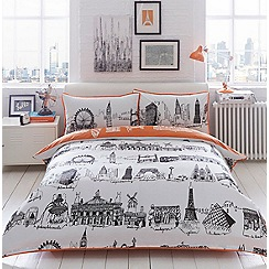 Ben de Lisi Home - Cream 'City Scene' bedding set