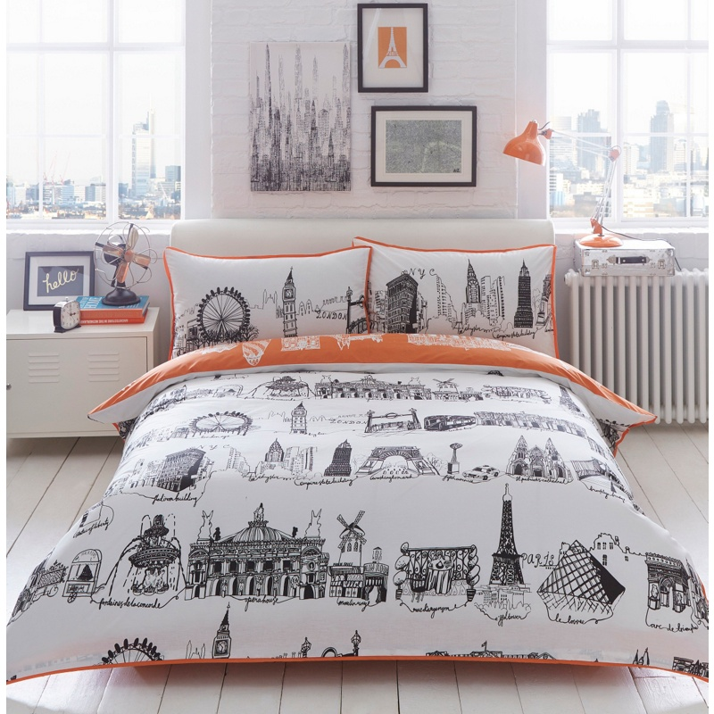 Ben de lisi home cream city scene bedding set 2600 bullring gumiabroncs Image collections