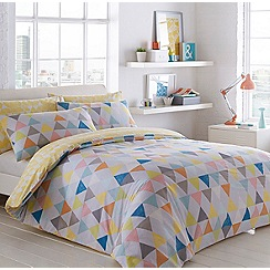 Ben de Lisi Home - White 'Triangles' 144 thread count bedding set
