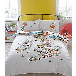 Ben de Lisi Home - White 'British Isles' bedding set