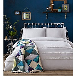 Butterfly Home by Matthew Williamson - White 'Arabella Tassel' 180 thread count bedding set