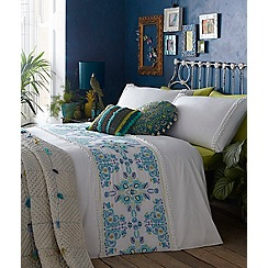 Butterfly Home by Matthew Williamson - White 'Isla' 180 thread count duvet cover and pillow case