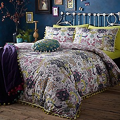 Butterfly Home by Matthew Williamson - Multi-coloured floral print 'Secret Garden' 180 thread count bedding set