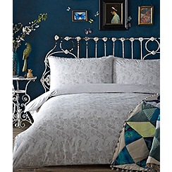 Butterfly Home by Matthew Williamson - White 'Butterfly Wings' printed 180 thread count bedding set