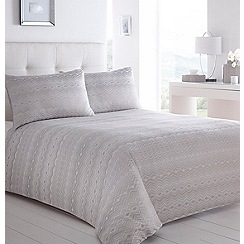 Home Collection - Silver jacquard 'Melody' bedding set