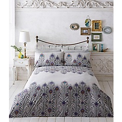 Butterfly Home by Matthew Williamson - Grey printed 'Feather' bedding set