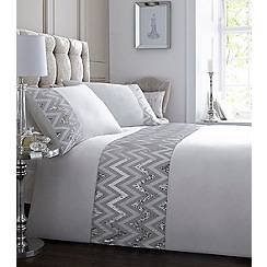 Star by Julien Macdonald - White sequin 'Chevron' bedding set