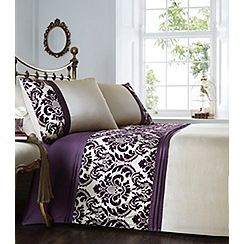 Home Collection - Purple flocked 'Chester' bedding set