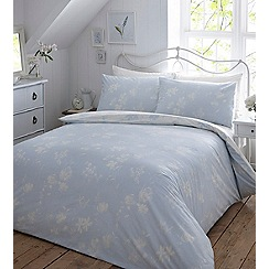 Home Collection - Blue printed 'Paper Flowers' bedding set