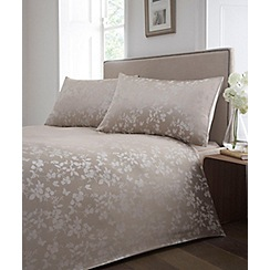 Home Collection - Natural 'Blossom Jacquard' bedding set