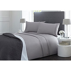 J by Jasper Conran - Grey pleat 'Fulham' bedding set