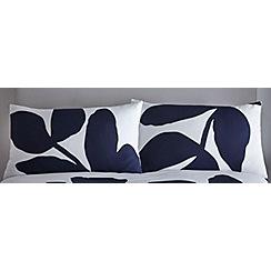 J by Jasper Conran - Navy printed 'Madison' pillowcases