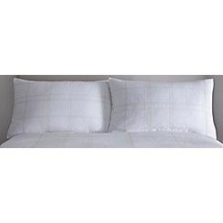 J by Jasper Conran - White embroidered 'Alston' standard pillowcases