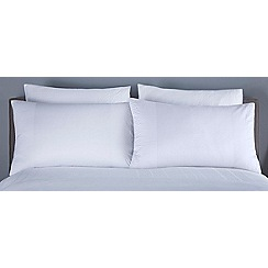 J by Jasper Conran - White 'Ravenna' square pillowcases