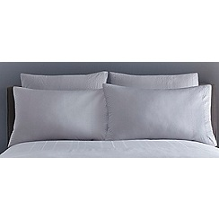 J by Jasper Conran - Silver 'Ravenna' square pillowcases