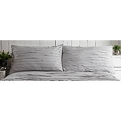 RJR.John Rocha - Grey textured 'Ayla' pillowcases