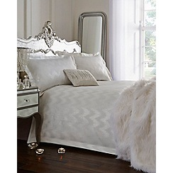 Star by Julien Macdonald - Silver 'Cecelia' jacquard duvet cover