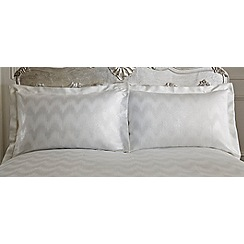 Star by Julien Macdonald - Silver 'Cecelia' jacquard pillowcases