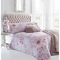 Star by Julien Macdonald - Pink floral 'Stella' duvet cover